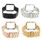 Stainless Steel 3 Bead Chain Band Watchband Strap Metal Frame For Fitbit Blaze