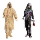 Unisex Halloween Costumes Adult Creepy Mummy Zombies Cosplay Ghost Fancy Dress