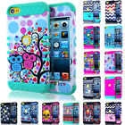 DESIGN Impact Shock Proof HARD SOFT Cover Case for Apple iPod Touch 5th 6th Gen