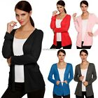 Women Basic Long Sleeve Draped Open Front Light Shawl Cardigan Career Casual NEW