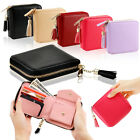 Womens Leather Small Mini Wallet Card Holder Zip Coin Purse Clutch Handbag image