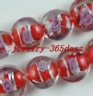 40pcs Loose Beads Glass Flat Spacers 16mm Jewelry DIY