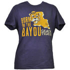 NCAA Louisiana State Tigers LSU Born On The Bayou Geaux Tshirt Tee Mens Adult