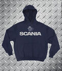 Scania Topline R Series V8 Heavyweight Hoodie Sweat All Sizes S - XXL Navy New