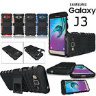 For Samsung Galaxy J3 2016 Shockproof Rugged Hybrid Rubber Hard Armor Case Cover