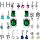 Womens S925 Solid Silver Fashion Drop Dangle Sterling Earrings Jewelry Gifts