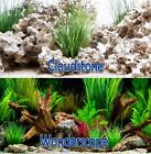"Seaview CloudStone/Wonderscape 24"" Aquarium Double-sided Background BGCLD6-24"