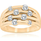1ct Yellow Gold Real Diamond 14K Right Hand Ring