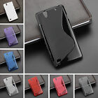 S-Line Wave TPU Gel Case Silicone Cover for Sony Xperia Experia Mobile Phones