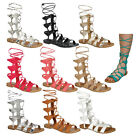 Breckelle's CE17 Women's Gladiator Style Lace Up Mid Calf Flat Sandals