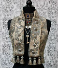 SHRINE GOTHIC GREEN IVORY TOREADOR VEST PIRATE VICTORIAN STEAMPUNK TAPESTRY