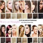 "15""-30"" Clip In 100% Real Human Hair Extensions Full Head 160G-70G Colorful Lot"