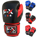 F2X Leather Sparring Boxing Gloves Muay Thai Training Punch Bag Mitts MMA UFC UK