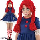 Childs Girls Scary Broken Ragdoll Halloween Fancy Dress Costume Outfit and Socks
