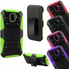 ZTE Citrine HYBRID Rugged Protector Case Hard Holster Stand Clip Phone Cover