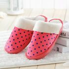 New Slippers Non-Slip Wearproof Couples Home Shoes Dot Plush Warm Winter Slipper