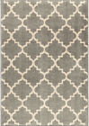 Orian Gray Lattice Curves Arches Boxes Contemporary Area Rug Geometric 4322
