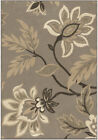 Orian Grey Petals Paisley Branches Leaves Transitional Area Rug Floral 2009