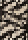 Orian Gray Blocks Curved Edges Pixels Contemporary Area Rug Geometric 4312