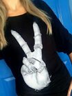 FLAWLESS Embellished Studded Hand Peace Freedom Pullover Rayon Plus 1X 2X 3X