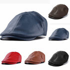 Mens Boy Peaked NewsBoy Country Outdoors Golf Beret Hat Leather Flat Cap Cabbie