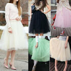 Women Girls White/Black Pure Color Tule Ballet Dress Simple Casual MIni Skirt