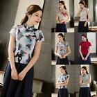 Chinese Vintage Women Girl Floral Cheongsam Qipao Summer Blouse Top