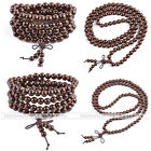 Natural Wood Buddha Prayer Loose Beads Bracelet & Necklace Reiki Healing Gift