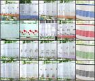 """Kitchen Voile Cafe Net Curtain Panel 32 New Designs 12"""" 18"""" 24"""" Drop Free Post"""