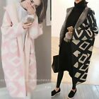 Winter ladys tops Poncho Knit Cape Cardigan Long Sleeve Coat Knitwear plus size