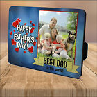 Personalised Happy Fathers Day Best DAD WOOD PHOTO PANEL KEEPSAKE PRINT GIFT