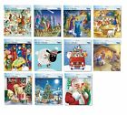 Square Advent Calendars with glitter varnish with white envelopes 230 x 230 mm