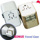 Universal Travel Adapter USB Wall AC Power 240v 110v for AU EUROPE USA UK 4 USB