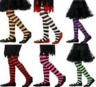 Smiffys Striped Tights for Fancy Dress & Halloween Orange/Black Child 6-12