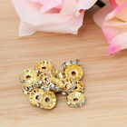 HOT! 10mm Alloy/Rhinestone/Crystal Crafts DIY Making Gold Spacer Beads Wholesale