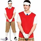 Mens Funny Pub Golfer Golf Sporting Stag Do Freshers Fancy Dress Outfit and Hat