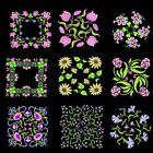 Anemone Quilt Squares 4 Machine Embroidery Designs CD- 36 Anemone Designs