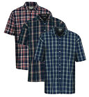 Mens Champion Country Style Brighton Casual Check Short Sleeved Polycotton Shirt