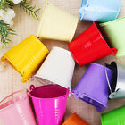 12PCS Alloy Mini Pail Bucket Candy Favor Box Wedding Party Gift Box More Colors