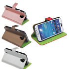 Leather Wallet Card Slots Case Cover Pouch for Samsung Galaxy S4 SIV i9500 i9505