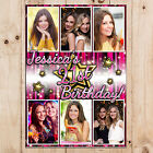 Personalised 18th 21st 30th 40th 50th Happy Birthday PHOTO Poster Banner N87