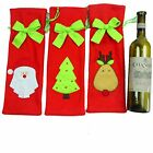 Xmas Christmas Decoration Red Santa Tree Wine Bottle Cover Bag Dinner Party Gift