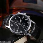 Luxury Mens Womens Leather Stainless Steel Dial Analog Quartz Sport Wrist Watch