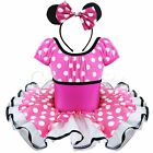 BNWT GIRLS DISNEY MINNIE MOUSE PARTY DRESSING UP DRESS RED 1-2 YEARs + MOUSE EAR