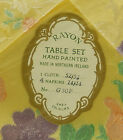 Rayon Hand Painted Table Set One Cloth and Four Napkins
