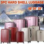 3PCS Luggage Set ABS +PC Trolley Spinner Suitcase Wheel Carry On Travel Bag R7O1