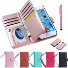 PU Leather 9 Card Holders Slots Magnetic Flip Case Cover for iPhone 7 / 7 Plus