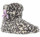 Luxury Bootie Leopard Print Bow Soft Textile Slip On Womens Slippers