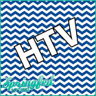 CHEVRON Stripes Pattern HTV #1 Royal Blue & White Heat Transfer Vinyl for Shirts