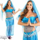 Adults Ladies Arabian Princess Jasmine Belly Dancer Bollywood Fancy Dress Outfit